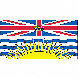 FLAG BRITISH COLUMBIA 36IN X 72IN