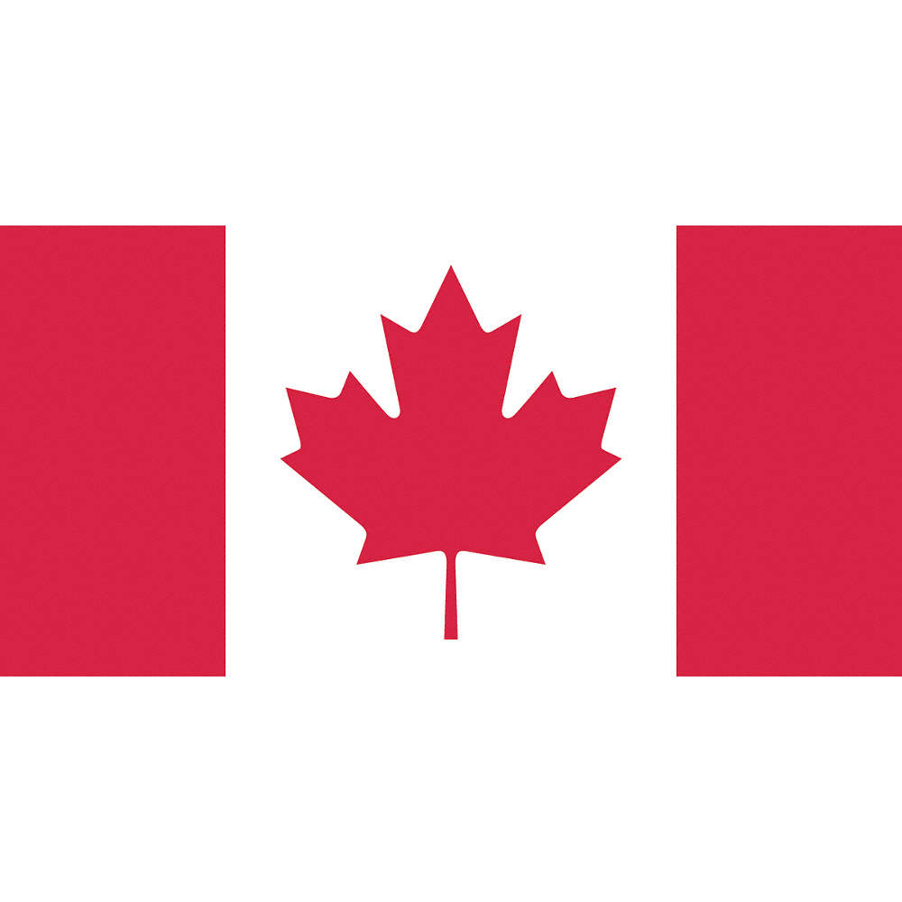 Flags Unlimited Flag Canadian 54inx108 Screen Print Country Flags