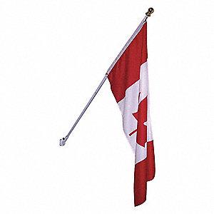 POLE SPINNING 1IN W/BKT + CDN. FLAG