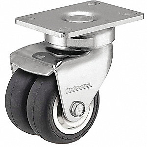 CASTER SWIVEL DUAL NEOPREPENE WHEEL