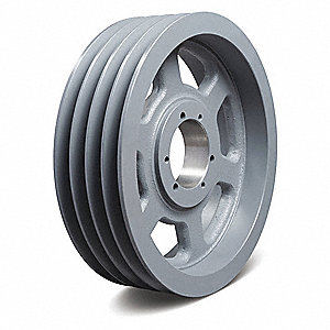 Quick Detachable Bushed Bore Standard V-Belt Pulley, For V-Belt Section: 4L, 5L, A, AX, B, BX