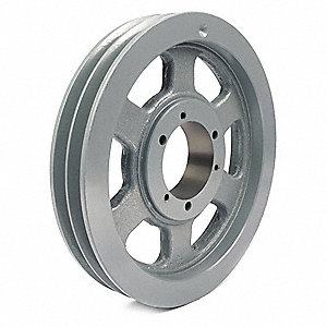 "V-Belt Pulley,Detachable,2Groove,10.9""OD"
