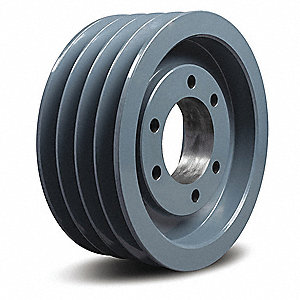 "V-Belt Pulley,Detachable,4Groove,10.9""OD"
