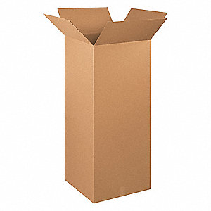 "Shipping Carton, Kraft, Inside Width 20"", Inside Length 20"", Inside Depth 48"", 65 lb., 1 EA"