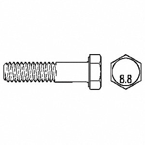 SCREW HX HD PLTD 933-8.8 4X50 ZINC