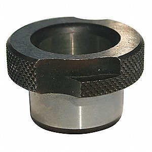 "Slip Fixed Renewable Combination Drill Bushing, 0.196"", I.D. 1/2"", O.D., #9: Drill Size"