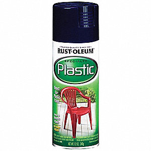 Spray Paint in Gloss Blue for Fiberglass, Plastic, Vinyl, 12 oz.