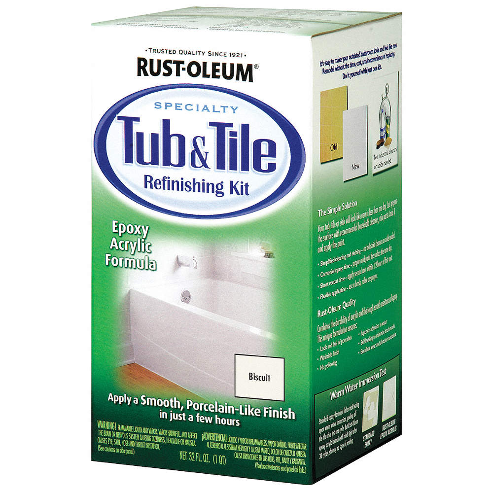 RUST-OLEUM Biscuit Tub and Tile Refreshing Kit, Gloss Finish, 70 to ...
