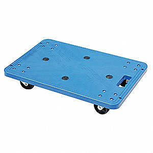"24""L x 16""W x 4-1/2""H Blue General Purpose Dolly, 220 lb. Load Capacity"