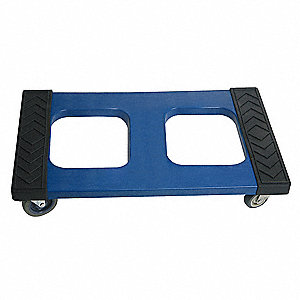 "30""L x 18""W x 6-1/4""H Blue General Purpose Dolly, 1000 lb. Load Capacity"