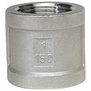 COUPLING 304SS 150LB SCRD 1/8IN