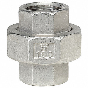 UNION 316SS 150LB SCRD 3/8IN