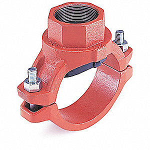 TEE 7721 MECH THRD OUTLET 4X3IN