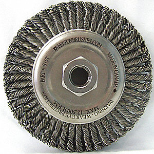 BRUSH KNOT STYLE WHEEL SS 5/8IN-11N