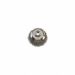 BRUSH CUP SS CRIMPED 3-1/2INX5/8-11