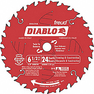 BLADE 6-1/2IN X 24T SAW