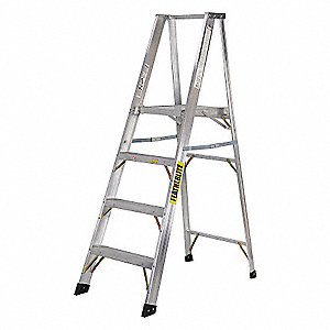 LADDER,ALUMINUM,PLTF,14FT,TYPE 1A
