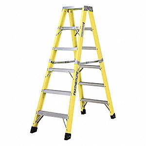 LADDER,FIBERGLASS,2-WAY,6FT,TYPE 1A