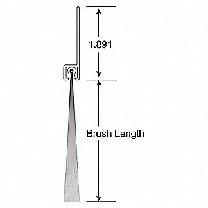 "2"" Brush Weatherseal with 2"" Straight Holder, 14 ft. Overall Length"