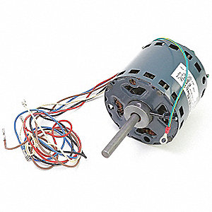 Motor, 1/5 HP, 230V, 1-Phase, 1075 rpm, CW