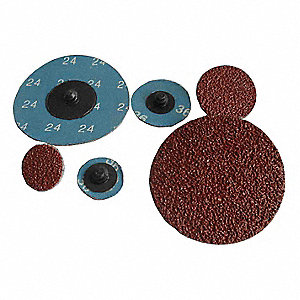 "2"" Coated Quick Change Disc, TR Roll-On/Off Type 3, 24, Extra Coarse, Aluminum Oxide, 100 PK"