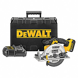 "6-1/2"" Cordless Circular Saw Kit, 20.0 Voltage, 5150 No Load RPM, Battery Included"