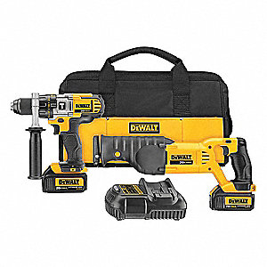 Cordless Combination Kit, 20.0 Voltage, Number of Tools 2