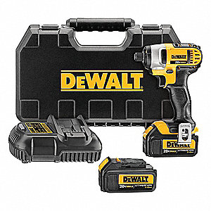 "1/4"" Cordless Impact Driver Kit, 20.0 Voltage, 1400 in.-lb. Max. Torque, Battery Included"