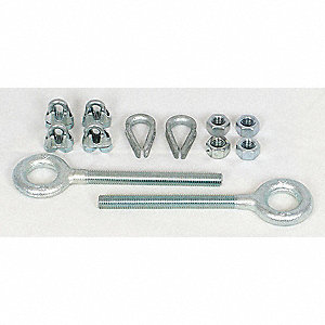 Festoon Hardware Kit,1/4 In Wire Rope
