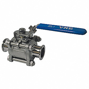 BALL VALVE,2-WAY,1.5IN,CLAMP,1000 P