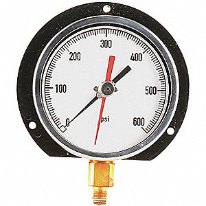 "4-1/2"" General Purpose Pressure Gauge, 0 to 600 psi"