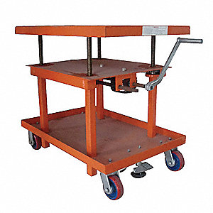 Scissor Lift Cart,2000 lb.,Steel,Fixed