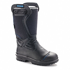 Men's Insulated Structural Firefighting Boots, Size 9-1/2, Footwear Width: D, Footwear Closure Type: