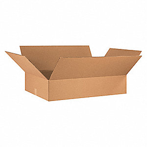 "Shipping Carton, Kraft, Inside Width 24"", Inside Length 36"", Inside Depth 8"", 65 lb., 1 EA"