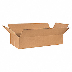 "Shipping Carton, Kraft, Inside Width 18"", Inside Length 40"", Inside Depth 8"", 65 lb., 1 EA"