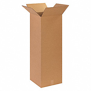 "Shipping Carton, Kraft, Inside Width 14"", Inside Length 14"", Inside Depth 36"", 65 lb., 1 EA"