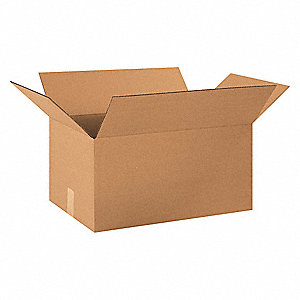 "Shipping Carton,Kraft,20"" L,13"" W,10"" D"