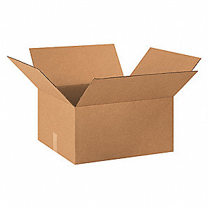 "Shipping Carton,Kraft,20"" L,18"" W,10"" D"