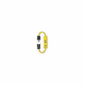 INLINE GFCI EXTCRD 2FT YELLOW