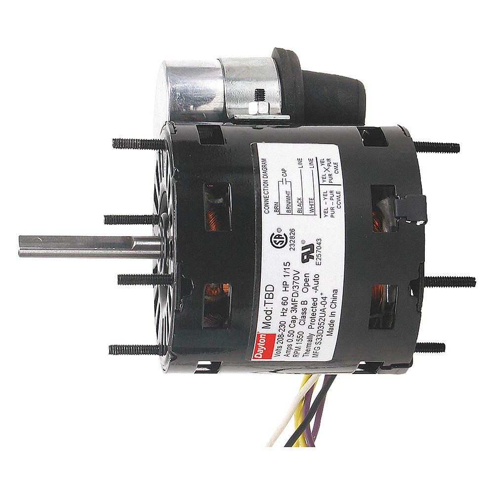 Dayton Hvac Motor3000 Rpm115v1 10 Hp 33 Inch Diameter Motors Electric Motor Wiring Diagram