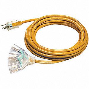 CORD XTNSN 3OUTLT 15A 12/3GA 100FT