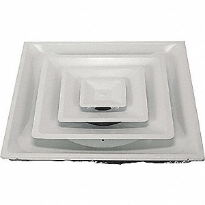 DIFFUSER,3-CONE,DUCT SZ 12 IN.,WHIT