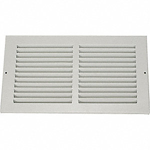 RETURN AIR GRILLE,8X14 IN,WHITE