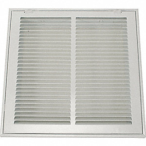 RTRN AIR FLTR GRILLE,20X20 IN,WHITE