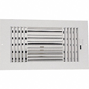 SIDEWALL/CEILING REGISTER,3-WAY
