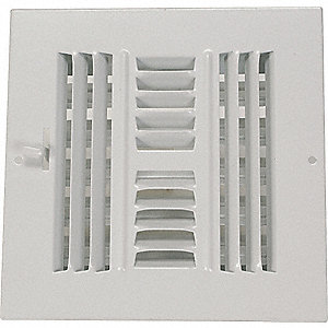 SIDEWALL/CEILING REGISTER,4-WAY