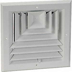 DIFFUSER,3-WAY,DUCT SZ 10 IN. X 10