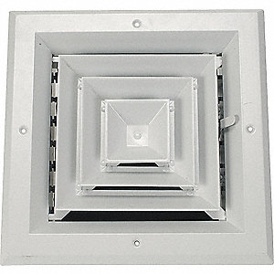 DIFFUSER,4-WAY,DUCT SZ 6 IN. X 6 IN