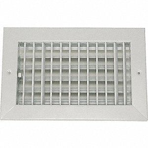 SIDEWALL/CEILING REGISTER,1-WAY