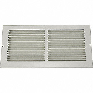 RETURN AIR GRILLE,6X10 IN,WHITE